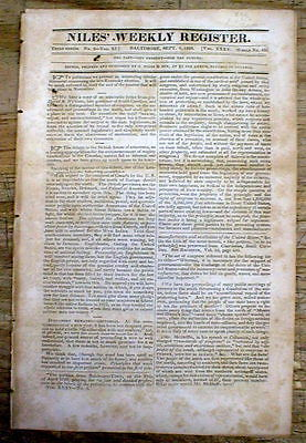1828 newspaper AUSTRALIA settled by British & is PREDICTED to be a GREAT NATION