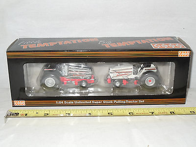 Case Little & Big Temptation Pulling Tractor Set By SpecCast  1/64th Scale