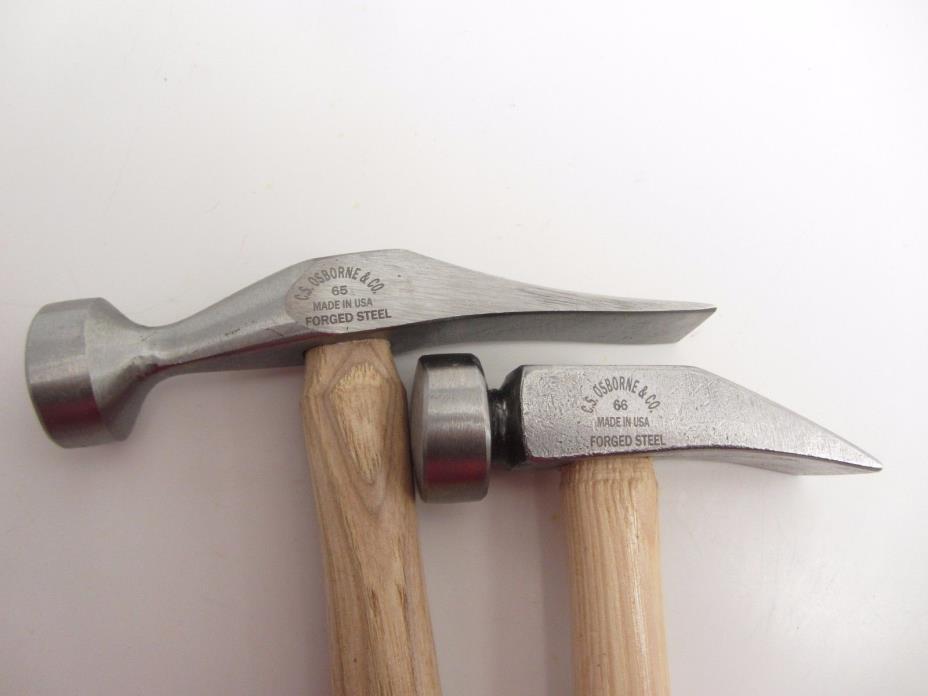 C.S. Osborne 65 & 66 Cobblers Leather Working Shoe Repair Hammer