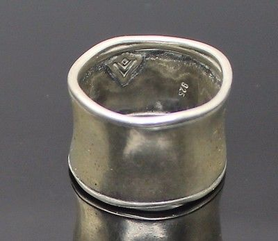AUTHENTIC SILPADA VINTAGE FANCY CIGAR BAND STERLING SILVER RING SIZE 7.5