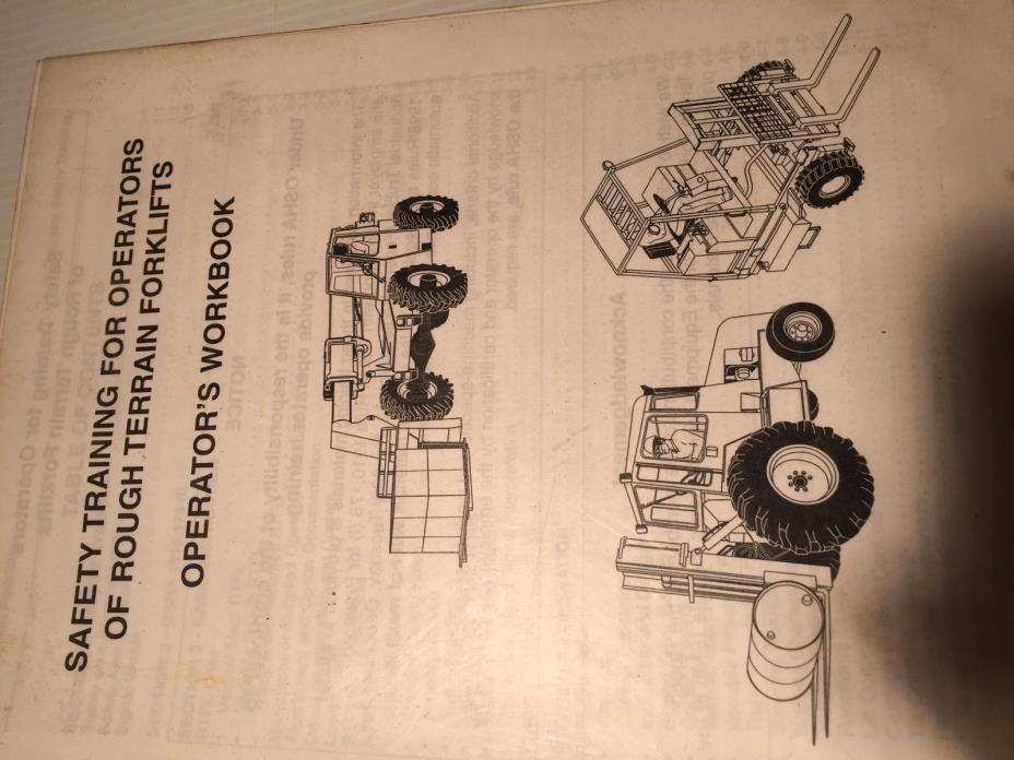 Rough Terrain Forklifts SAFETY TRAINING Operators WORKBOOK