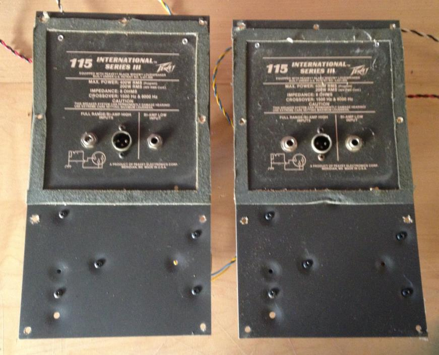 Pair of Vintage Peavey 115 International Speaker Crossovers