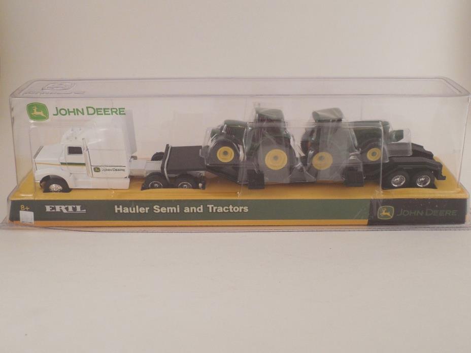 ERTL John Deere 1/64 Scale Die Cast Hauler Semi and Tractors Set NIP