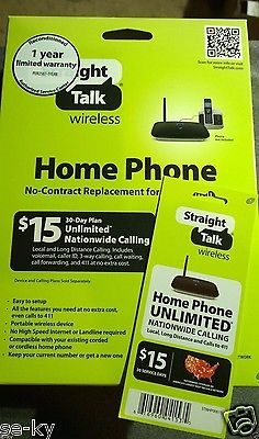 Straight Talk Prepaid Wireless Home Phone Device + $15 1 Month Service Pin