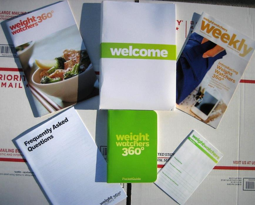 Weight Watchers Points Plus 360 Plan guide,pocket guide,FAQ Tracker & kit holder