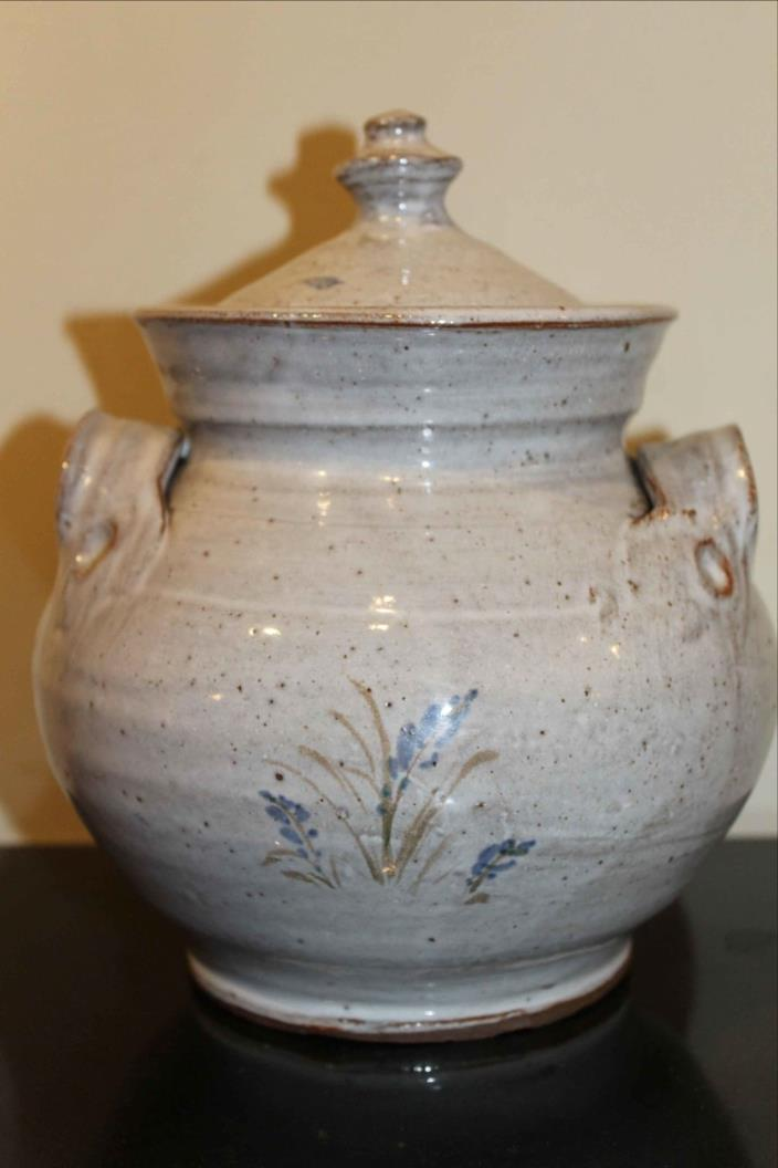 Owens Pottery Lidded Urn with Side Handles