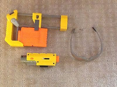 nerf accessories: stock, goggles, laser attatchment, and extra mag