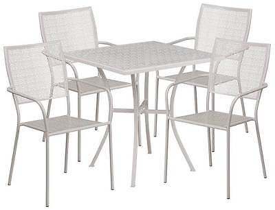 5-Pc Modern Patio Table Set in Gray [ID 3500510]