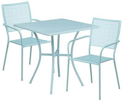 3-Pc Modern Patio Table Set in Blue [ID 3500505]