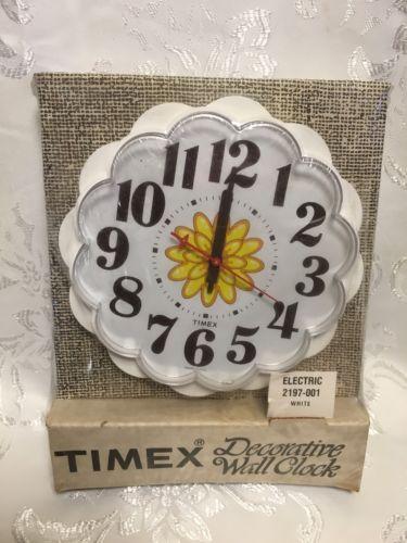 Vtg TIMEX Decorative Wall Clock NIB