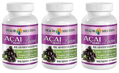 Organic ACAI Berry Powder -  Super Anti-Oxidant w/Green Tea Extract (3 B) Lean