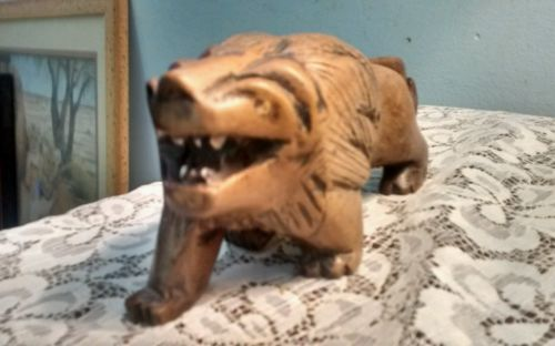 Beautiful Wood, hand carved lion, abstract, leo