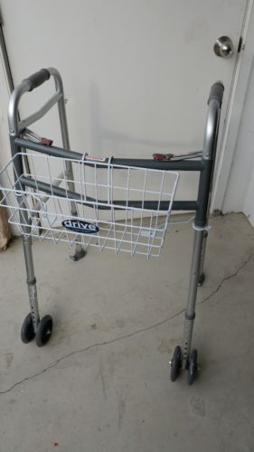 2 Button Folding Walker for Old Man + 5