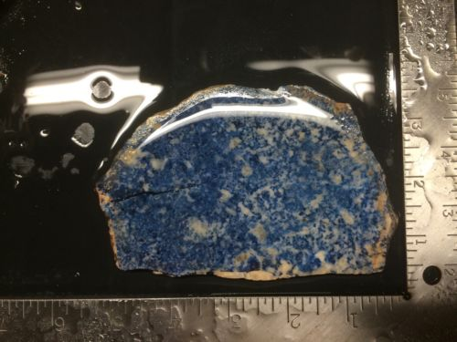 Lapis Lazuli Slab 210g 3 1/4x4 3/4x5/16 Rough Cab Agate Jasper Blue