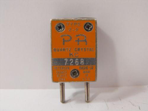 (1) Petersen Radio 7268 KHz / 7.268 MHz FT-243 Crystal for 40 Meter Ham Radio