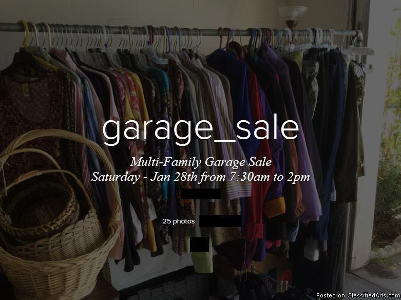 Multi-Family Garage Sale - Jan 28th