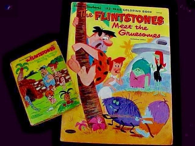 FLINTSTONES CARTOON COLORING BOOK, MINI BOOK  LOT