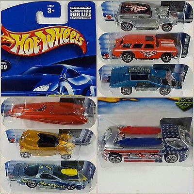 Hot Wheels - 2002 - Lot of 7  _  Deora Spyder Wild Kick Nomad Demon Firebird