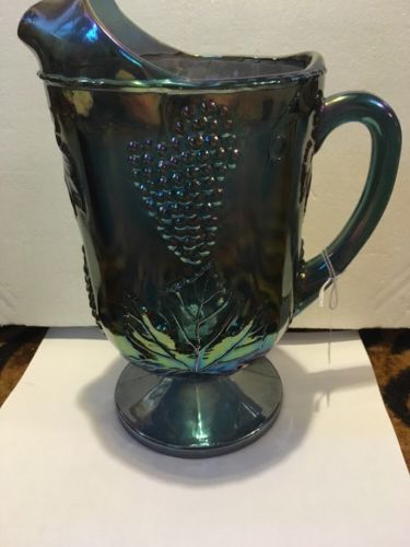 Indiana Carnival Glass Harvest Grape Pitcher