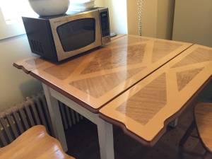 Antique Enamel Table (Burlington)