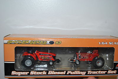1/64 Agco Young Blood & Pumpkin gone mad pulling tractor set by Spec Cast RARE