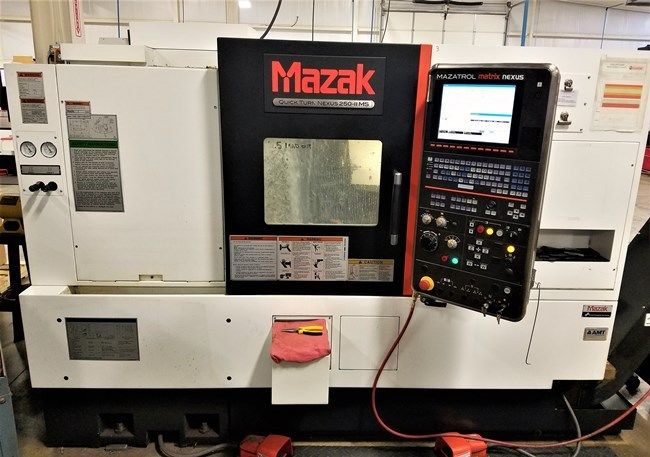 USED MAZAK Quick Turn Nexus 250-IIMS CNC Lathe 2012 Live Tooling Sub Spindle 10