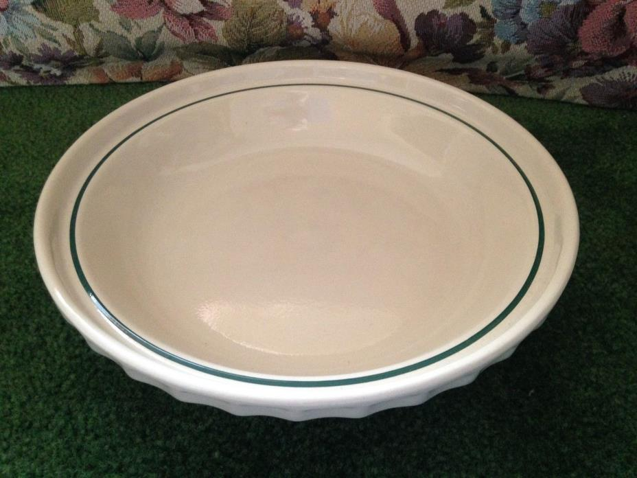 LONGABERGER POTTERY CHRISTMAS MISTLETOE WOVEN POTTERY SERVING BOWL DISH USA