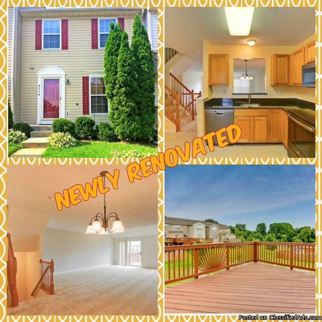 BEAUTIFUL 3BR Townhome