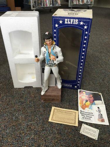 1977 Elvis Presley Whiskey Mc Cormick Decanter Music Box