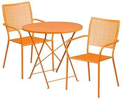 3-Pc Trendy Patio Table Set in Orange [ID 3500550]