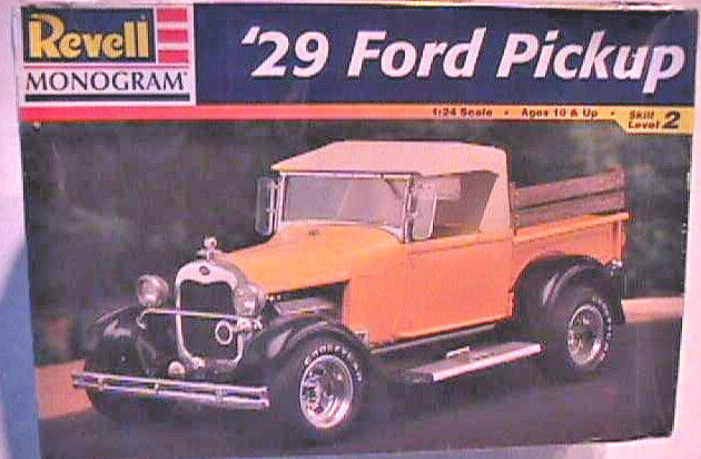 '29 Ford Hot Rod Pickup, Revell-Monogram No. 85-7555, 1/25th Unbuilt Plastic Kit