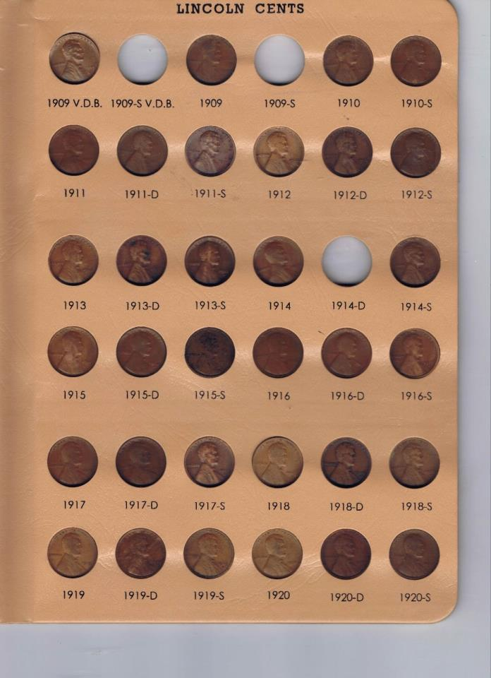 1909vdb-2017 P,D& S  HI GRADE LINCOLN PENNY COLLECTION ALMOST COMPLETE MANY BU