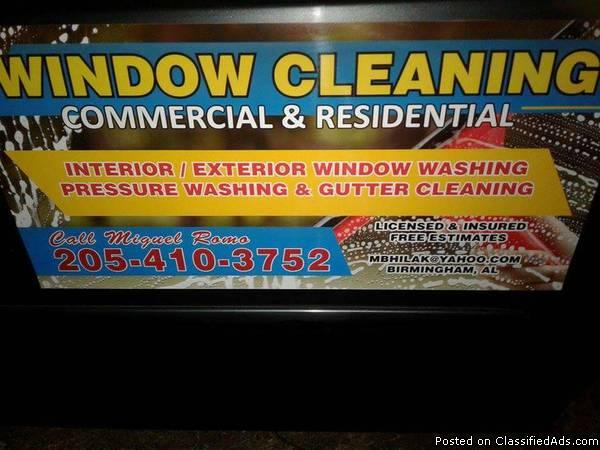 WINDOW CLEANING AND PRESSURE CLEANING
