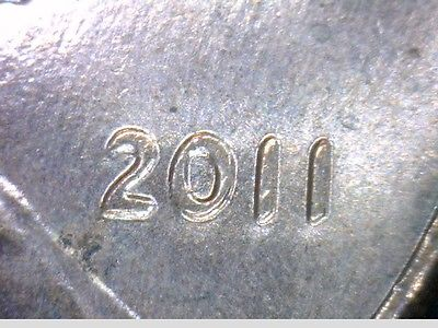 2011-P Lincoln Cent- Doubled Die Obverse- THE BIG ONE- 1DO-004 - BU RED-  V4009