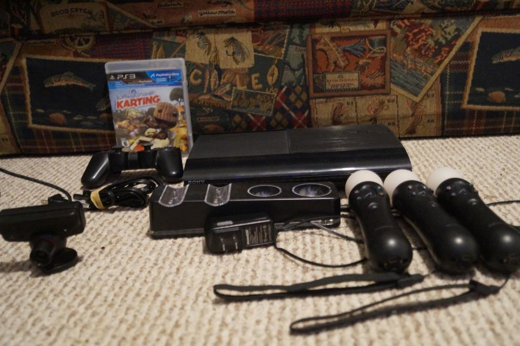 USED Playstation 3  160G Bundle Dreamgear Move Controllers