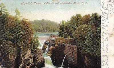 ITHACA NEW YORK TRIP HAMMER FALLS CORNELL UNIVERSITY UNDIVIDED POSTCARD