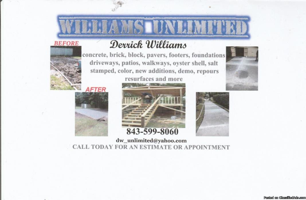 Williams Unlimited- Charleston and surrounding areas