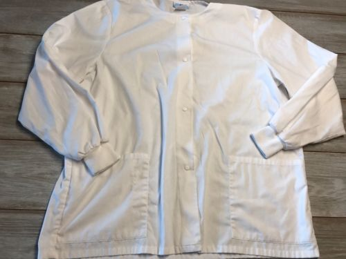 Women's White SB Scrubs Jacket Size Large
