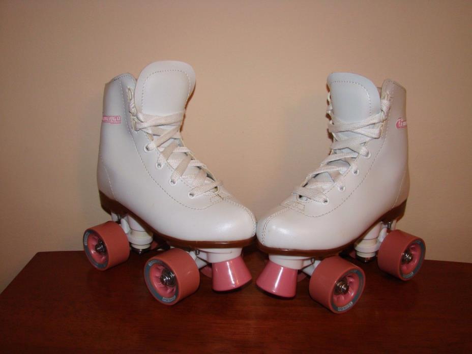 Chicago Quad 4 Wheel Roller Skates w/ White Uppers - Children/Girls Size 2