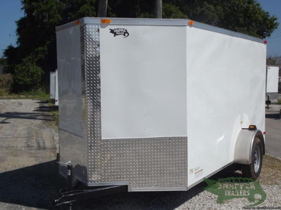 ENCLOSED Trailer for sale 6 x12 ft Wht Ext. trailer NEW