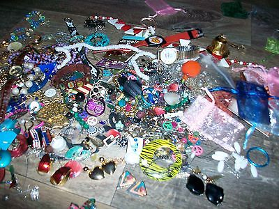 JEWELRY LOT Great for Repairs/Steampunk/Some Complete Necklaces and Earrings