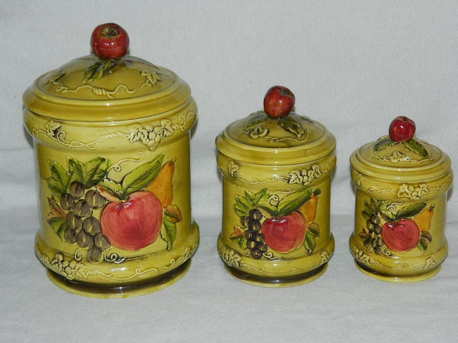 Grape Canister Set For Sale Classifieds