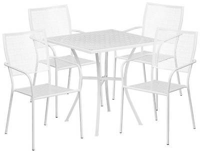 5-Pc Modern Patio Table Set in White [ID 3500512]