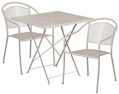 3-Pc Elegant Patio Table Set in Gray [ID 3500540]