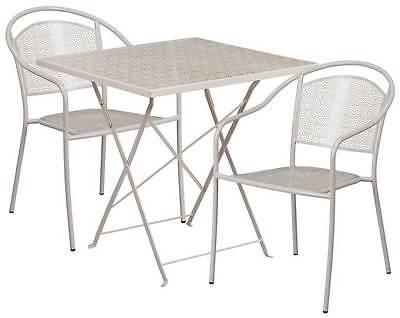 3-Pc Elegant Patio Table Set in Gray [ID 3500540]