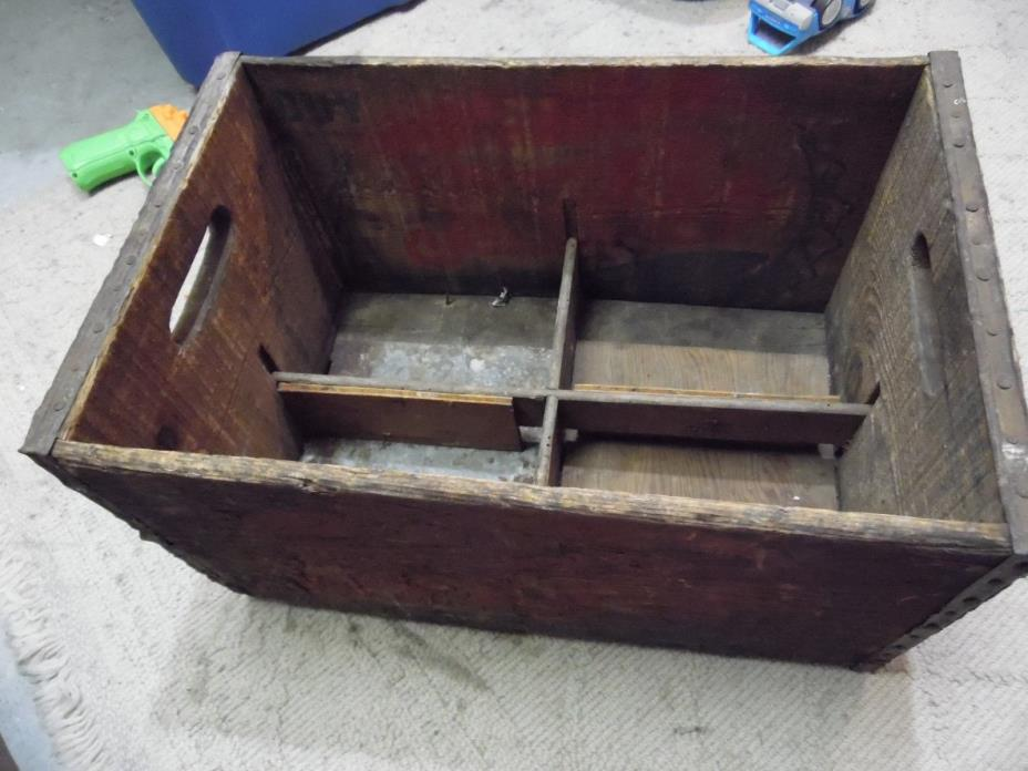 E4m Vintage Old Classic PEPSI WOOD CRATE CARRIER BOX CASE PORTSMITH