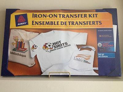 Iron on transfer kit create customise transfers t-shirts, sweatshirts, bag Avery