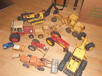 Vintage Lot Tractors Dozers Graders Payloaders Tonka Tootsietoy Ertle HotWheels