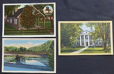 Lot (3) Clarksburg, WV, Library, Bridge, Stonewall Jackson Birthplace, 1930's-40