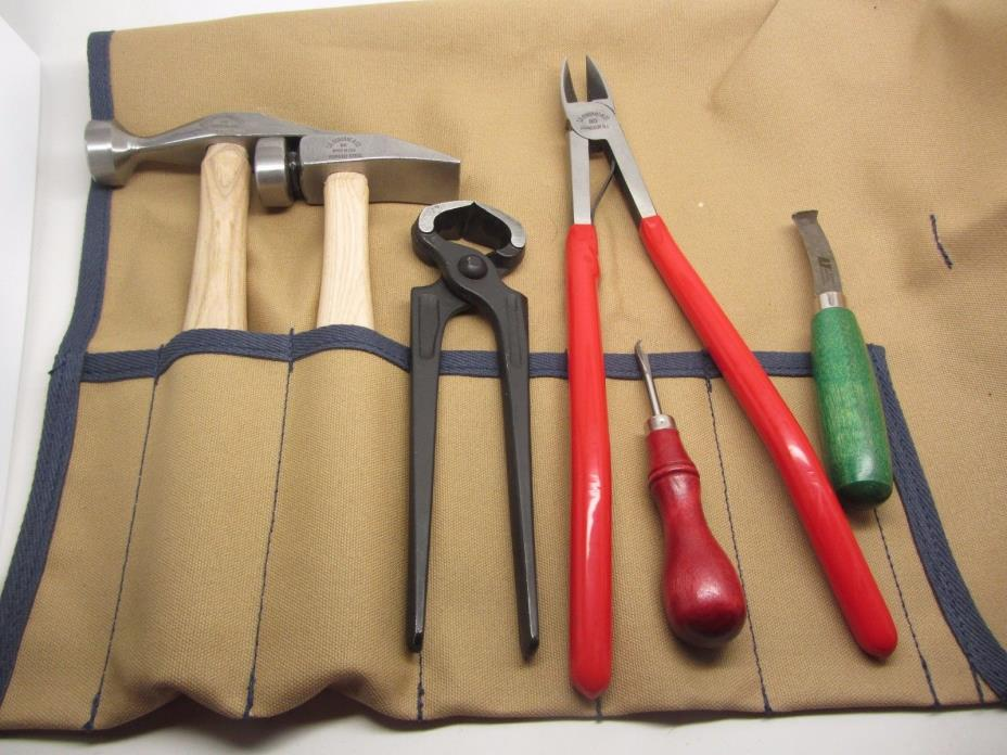 C.S. Osborne Shoe & Cobbler Leather Makers Repair Kit Nippers Hammers Removers